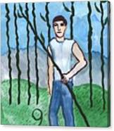 Airy Nine Of Wands Illustrated Canvas Print