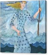 Airy Queen Of Wands Canvas Print