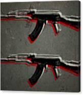 Ak47 Assault Rifle Pop Art Canvas Print