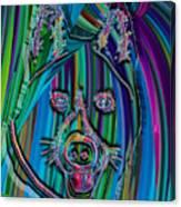 Akita Abstract Dog Canvas Print