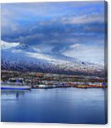 Akureyri Port Canvas Print