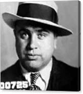 Al Capone Mugshot Painterly Canvas Print