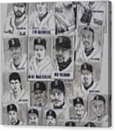 Al East Champions Red Sox Newspaper Poster Canvas Print
