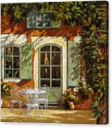 Al Fresco In Cortile Canvas Print