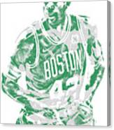 Al Horford Boston Celtics Pixel Art 6 Canvas Print