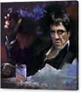 Al Pacino Snow Canvas Print