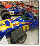 Al Unser Winning Cars At Indianapolis Canvas Print