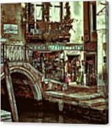 Al Valporetto-venice Italy Canvas Print