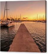 Ala Wai Harbor Sunset Canvas Print