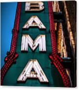 Alabama Theater Sign 1 Canvas Print