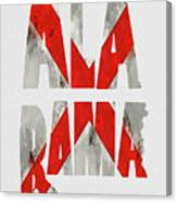 Alabama Typography Map Flag Canvas Print