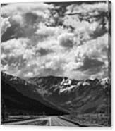 Alaska Bw On The Road  Canvas Print