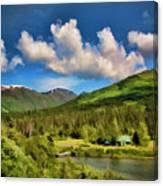Alaska Digital Paint Canvas Print