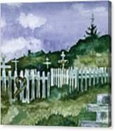 Alaska Graveyard  Canvas Print