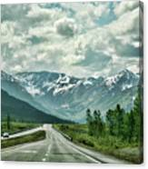 Alaska On The Road  Canvas Print