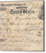 Alaska Purchase: Check Canvas Print