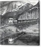 Alaska Railroad Near Whittier Canvas Print