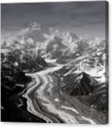 Alaska Range And Denali Canvas Print
