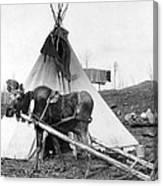 Alaska: Tepee, C1916 Canvas Print
