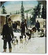 Alaskan Dog Sled, C1900 Canvas Print