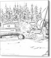 Alaskan Gold Dredge Canvas Print