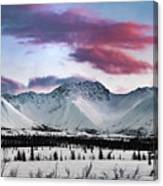 Alaskan Range At Sunset Canvas Print