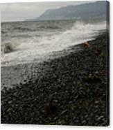 Alaskan Rock Beach Canvas Print