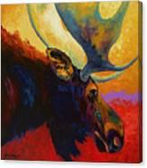 Alaskan Spirit - Moose Canvas Print