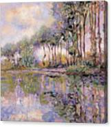 Alberi Sul Fiume Canvas Print