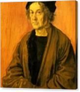 Albrecht Durer Father 1497 Canvas Print