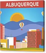 Albuquerque New Mexico Horizontal Skyline Canvas Print