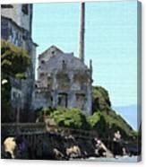 Alcatraz Island - Palette Knife Canvas Print