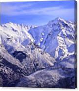 Alcazaba 3315 Meters And Vacares Canvas Print