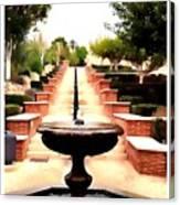 Alcazaba Fountain Canvas Print
