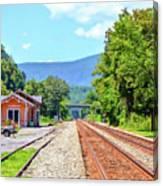 Alderson Train Depot And Tracks Alderson West Virginia Canvas Print