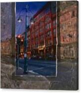Ale House And Street Lamp Canvas Print