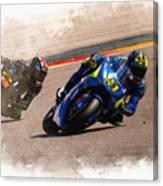 Aleix Espargaro Team Suzuki Ecstar Canvas Print