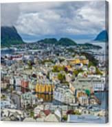 Alesund Norway Cityscape Canvas Print