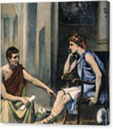 Alexander & Aristotle Canvas Print
