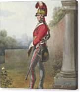 Alexander Ivanovitch Sauerweid 1783-1844 British Army. Private, Life Guards. About 1816 Canvas Print