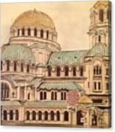 Alexander Nevsky Cathedral Canvas Print