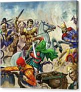 Alexander The Great At The Battle Of Issus  Canvas Print