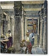Alexandria: Library Canvas Print