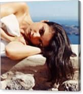 Alexis In Santorini Iv Canvas Print