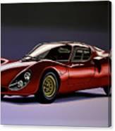 Alfa Romeo 33 Stradale 1967 Painting Canvas Print