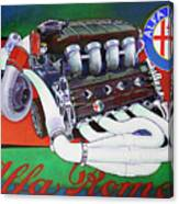 Alfa Romeo Indy Engine Canvas Print