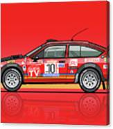 Alfetta Gtv Turbodelta Jolly Club Fia Group 4 1980 Sanremo Rallye Canvas Print