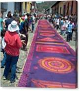 Alfombra In Purples Canvas Print