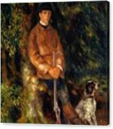 Alfred Berard And His Dog 1881 Canvas Print