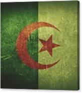 Algeria Distressed Flag Dehner Canvas Print